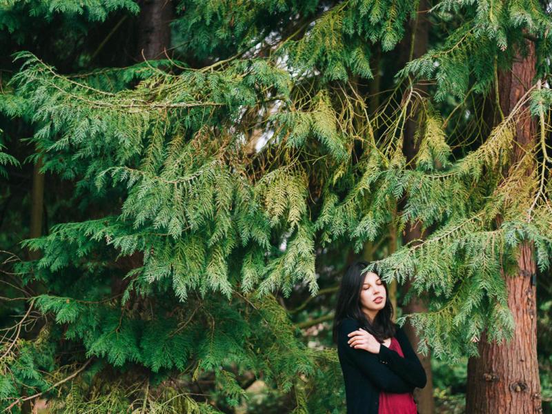 Michelle, botanical gardens in Mainz