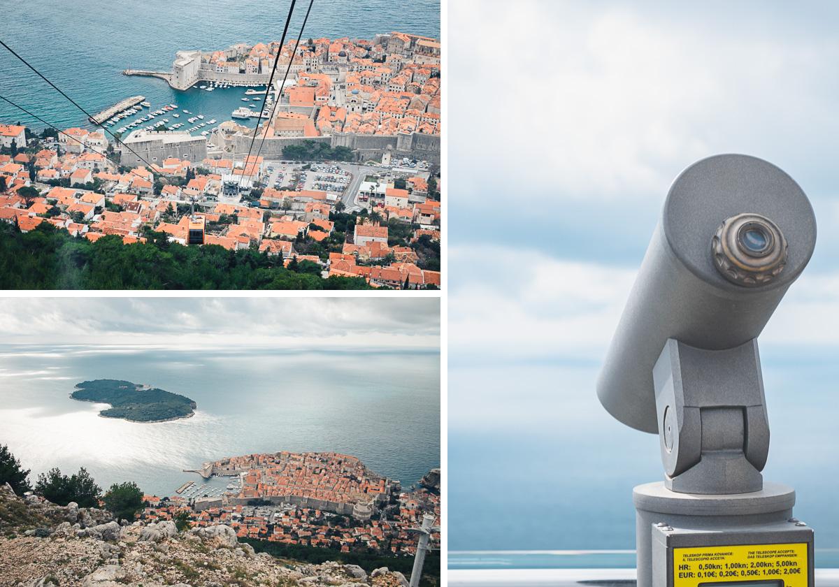 Die Altstadt von Dubrovnik von der Seilbahn aus