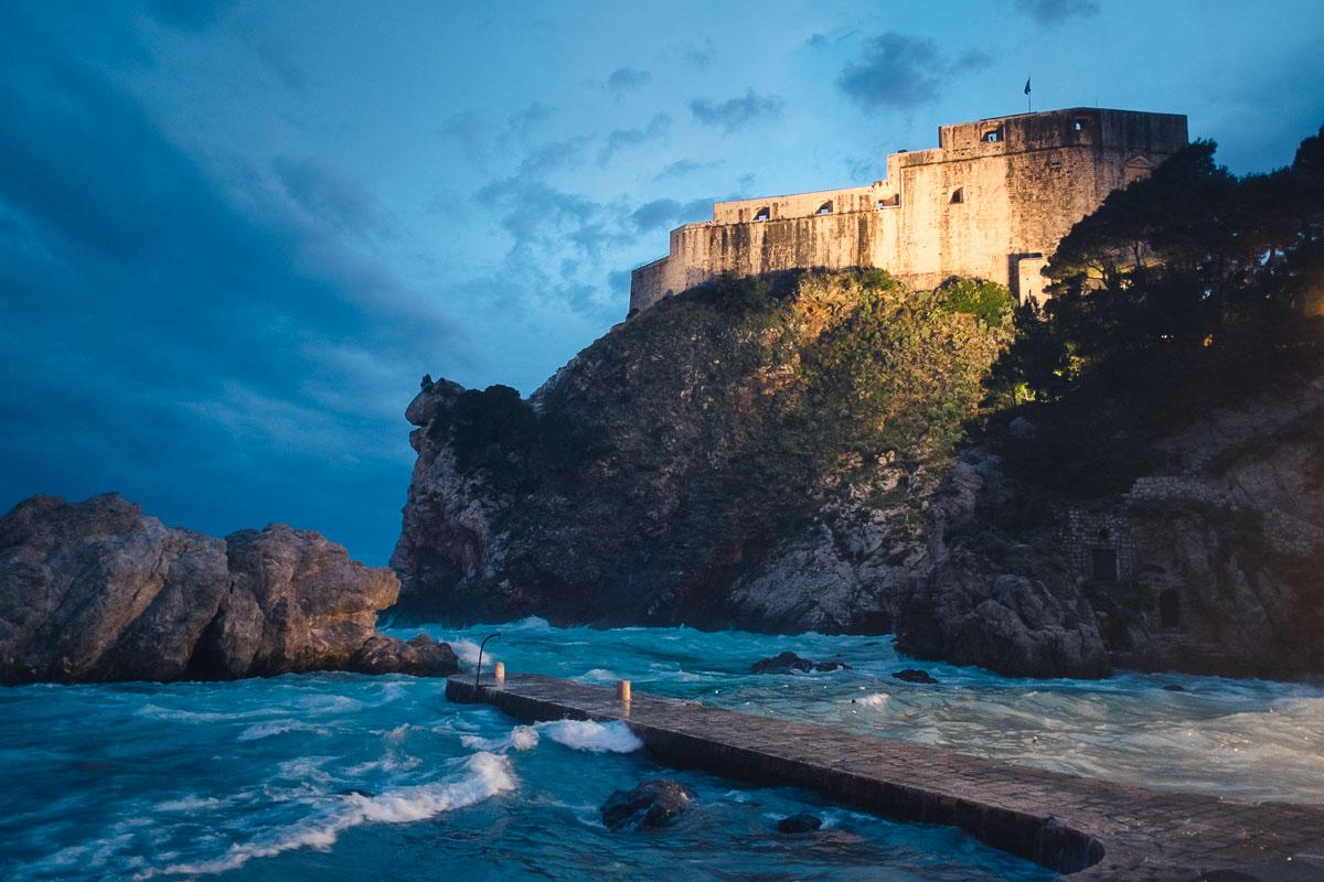 Dubrovnik - Fort Lovrijenac bei Nacht