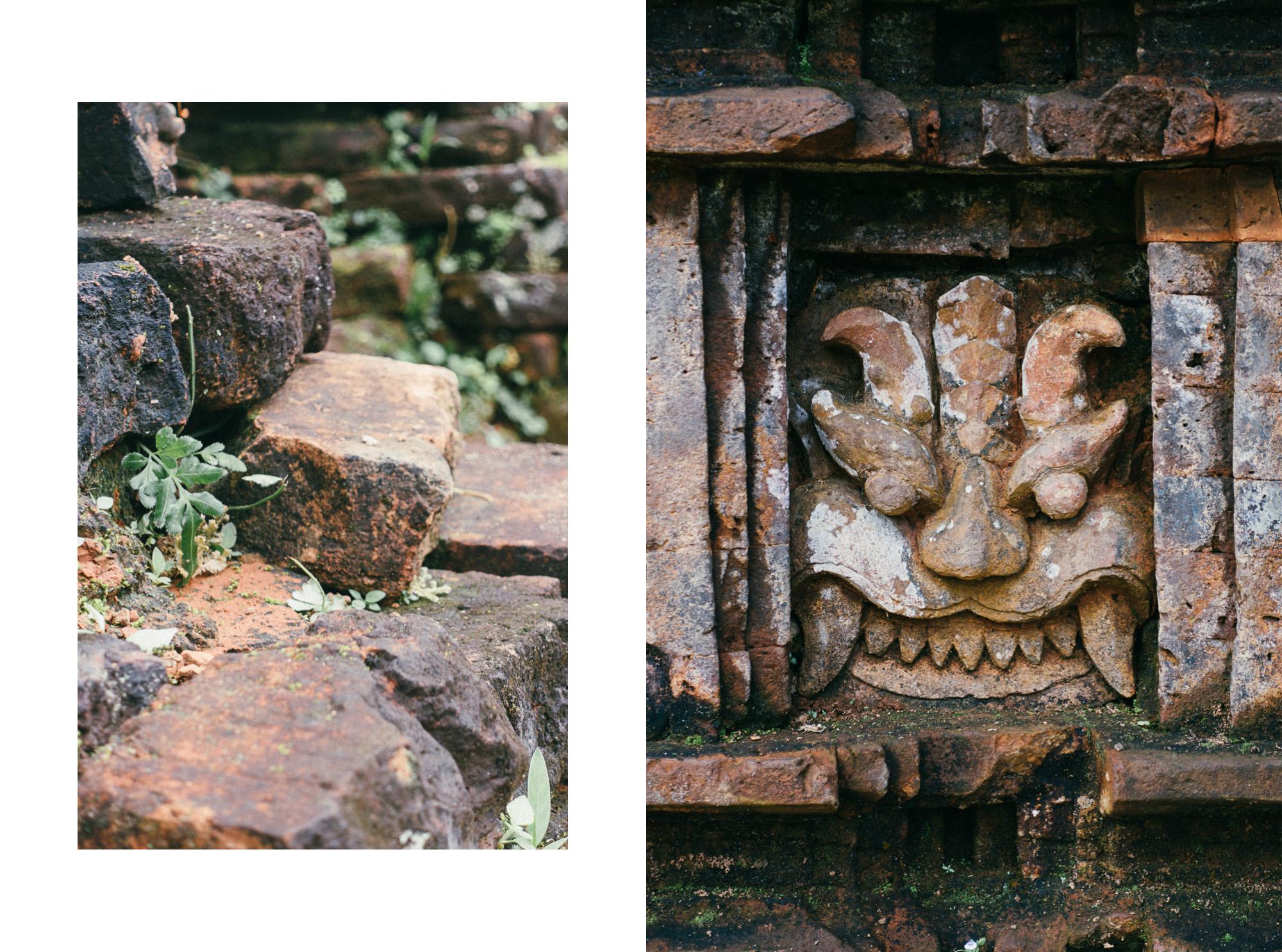 Details der Ruinen von My Son in Vietnam