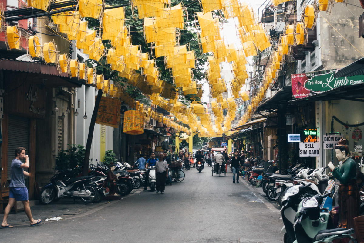 Straße in Hanoi